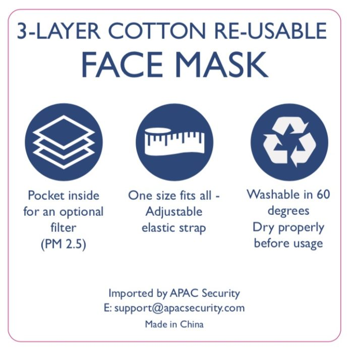 cotton re-usable face mask